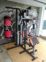Brand New Three Station Gym With Punching Bag and Situp Bench | Sports Equipment for sale in Kogi State, Kogi LGA