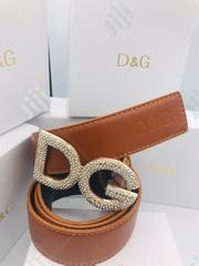 Original 0043 Dolce & Gabbana Leather Belt | Clothing Accessories for sale in Lagos State, Surulere