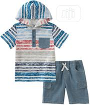 Boys Hooded Tee and Short 2pc Set | Children's Clothing for sale in Lagos State, Surulere