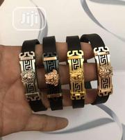 Versace Bracelet Leather Strap For Men's | Jewelry for sale in Lagos State, Lagos Island