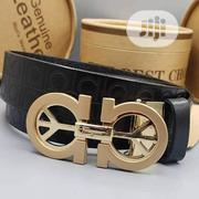 Salvatore Ferraganmo Leather Belt Original | Clothing Accessories for sale in Lagos State, Surulere