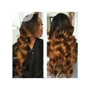 Ombre Bouncy Romance Curl Wig of Double Colors Black and Brown   Hair Beauty for sale in Rivers State, Port-Harcourt