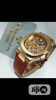 Patek Philipe Geneve Leather Wrist Watch | Watches for sale in Lagos State, Lagos Island