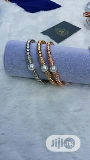 Three Tone Bangle With Pearl | Jewelry for sale in Lagos State, Ajah