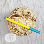 Ladies Clutch Purse-gold | Bags for sale in Lagos State, Lagos Island