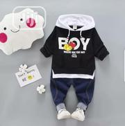 Quality Boys Hooded Long Sleeve Top and Jeans | Children's Clothing for sale in Lagos State, Surulere
