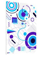 Flat Geometric Shapes Art Poster | Arts & Crafts for sale in Lagos State, Lekki Phase 1