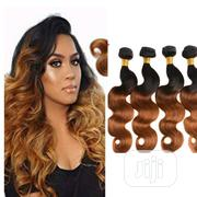 "Bouncy Body Wave Hair 16"" 18"" 20"" (4 Full Bundles) Black and Ombre 