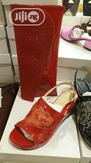 Italian Leather Party Shoe and Bag Set   Shoes for sale in Lagos State, Surulere