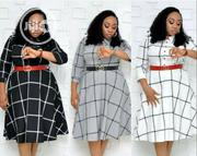 New Quality Stripe Flare Office Dress | Clothing for sale in Lagos State, Ikeja