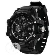 Skmei Chronograph Digital & Analog Sports Watch + Free LED Watch   Watches for sale in Lagos State, Ikeja