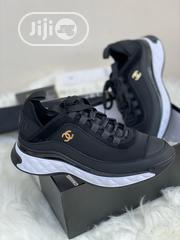 Chanel CC Velvet Calfskin Mixed Fibers Black Chunky Sneaker | Shoes for sale in Lagos State