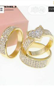3pcs/Set Elegant 18k Gold Filled Ring Heart White Topaz | Jewelry for sale in Rivers State, Port-Harcourt