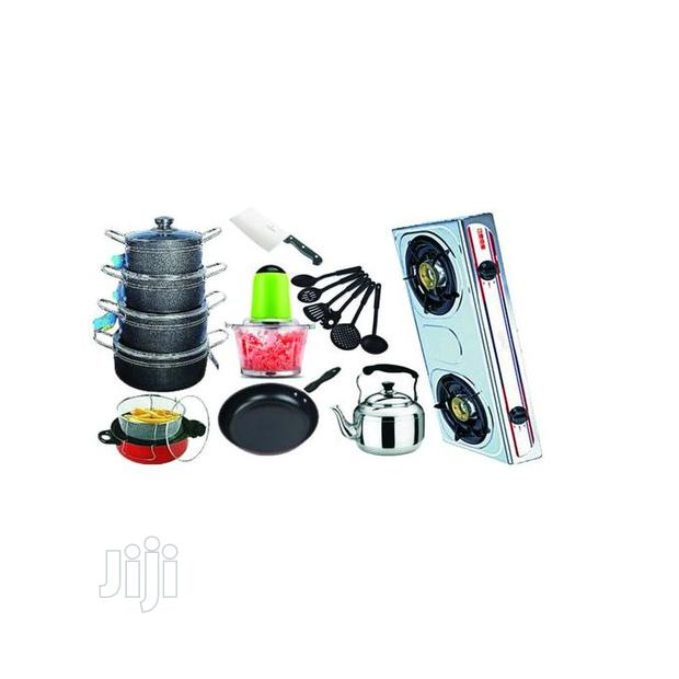 Economy Kitchen Bundle With Table Gas Cooker