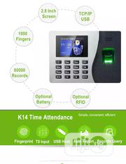 Fingerprint Time Attendance ZK K14 Biometric Time Clock Attendance | Computer Accessories  for sale in Lagos State, Ikeja