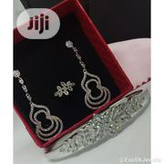 Cubic Zircon 3 In 1 Jewelry Set(Earrings, Bracelet And Bangle) | Jewelry for sale in Lagos State, Victoria Island