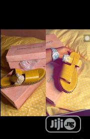 Cape Robbin Ladies Yellow Leather Slippers   Shoes for sale in Lagos State, Lagos Island
