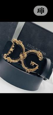 Dolce & Gabbana Leather Belt Original | Clothing Accessories for sale in Lagos State, Surulere