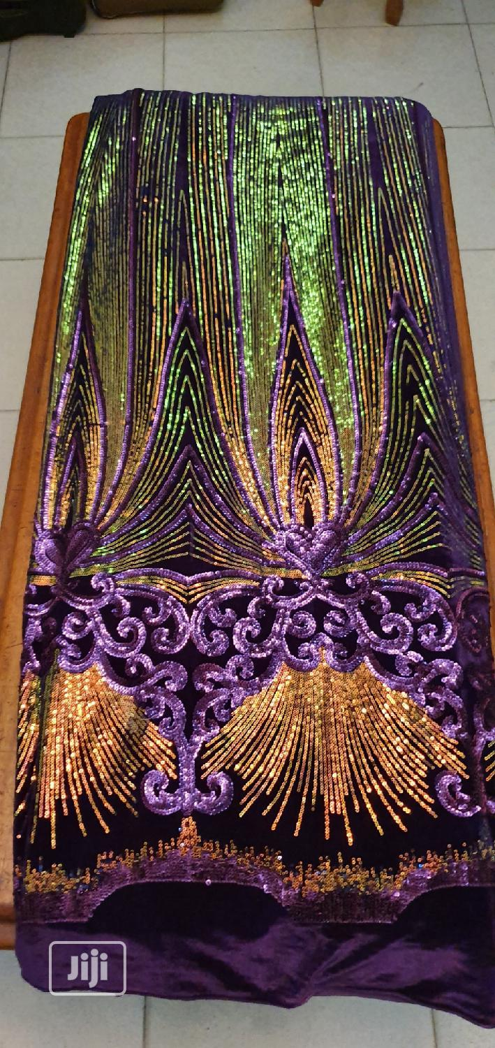 Purple Sample Sequence Velvet | Clothing for sale in Ojo, Lagos State, Nigeria