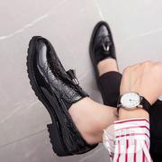 Men Casual Leather Shoes Black | Shoes for sale in Lagos State, Alimosho