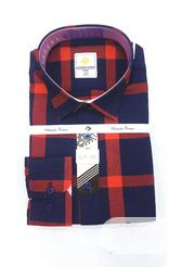 Quality Men's Designers Check Shirt in Red, Black and Blue Strips | Clothing for sale in Lagos State, Surulere
