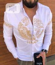 New Quality Men Versace White Collar Shirt | Clothing for sale in Lagos State, Lagos Island