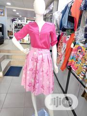 Classy And Elegant Teens Pink With Flower Design Skirt And Blouse | Children's Clothing for sale in Lagos State, Ojodu