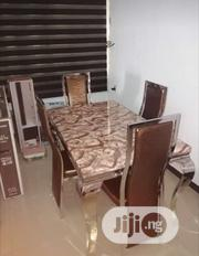 Quality Pure Marble Dining Table With Four Chairs | Furniture for sale in Lagos State, Ilupeju