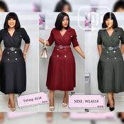 V Neck Gown With GG Belt | Clothing for sale in Lagos State, Ikoyi