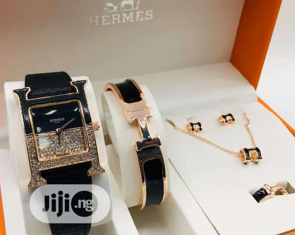 Hermes Fashion Wrist Watch and Bracelet | Jewelry for sale in Surulere, Lagos State, Nigeria