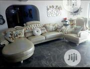 Improted Lether L-shape Sofa. | Furniture for sale in Lagos State, Ikeja