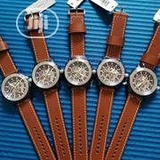 Fossil Automatic Rose Gold/Black Leather Strap Watch | Watches for sale in Lagos State, Lagos Island