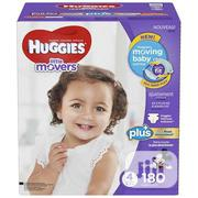 Huggies Little Movers Size 4 180pcs | Baby & Child Care for sale in Lagos State, Gbagada