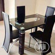 Four Seaters Unique Glass Dining Table | Furniture for sale in Lagos State, Alimosho