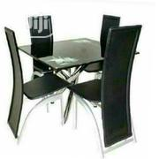 Affordable Four Seaters Glass Dining Set | Furniture for sale in Lagos State, Alimosho