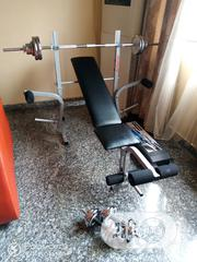 Weight Bench Or Bench Press With 30kg Barbells Set & 20kg Dumbell Sets | Sports Equipment for sale in Lagos State, Yaba