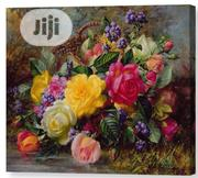 Roses By A Pond On A Grassy Bank Canvas Print | Arts & Crafts for sale in Lagos State, Surulere