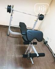 Weight Lifting Bench With 50kg Dumbbell | Sports Equipment for sale in Lagos State, Ikeja