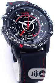 Leather Spy Camera Watch - Black | Security & Surveillance for sale in Lagos State, Isolo