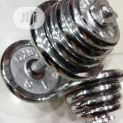 Brand New 30kg Chrome Adjustable Dumbbell | Sports Equipment for sale in Bayelsa State, Yenagoa