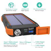 BLAVOR Solar Charger Power Bank 18W, QC 3.0 Wireless Charger 20000mah | Solar Energy for sale in Lagos State, Ikeja