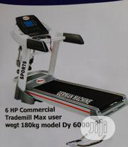 German Machine 6hp Treadmills With Massager   Sports Equipment for sale in Lagos State, Apapa