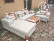 Quality Leather L _ Shape With A Single | Furniture for sale in Lagos State, Ikeja