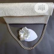 Glitter Handmade White Bag & Fascinator | Bags for sale in Lagos State, Agege