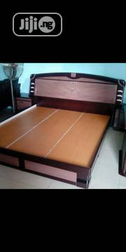 Quality Bed Frame With 2side Drawers and Mirror | Furniture for sale in Lagos State, Ojo