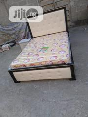 , (6×4.5) High Quality Bedframe With Quality Mouka Mattress | Furniture for sale in Lagos State, Ojo