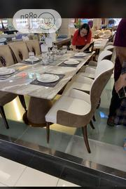 Classic Unique Quality Pure Leather Marble Dining Table | Furniture for sale in Lagos State, Ojo