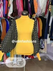 Polkadot Sleeves Blouse | Clothing for sale in Lagos State, Ikeja
