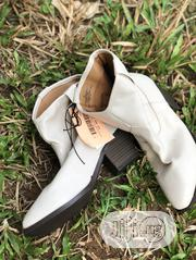 Cream Leather Heeled Boots | Shoes for sale in Lagos State, Lagos Island