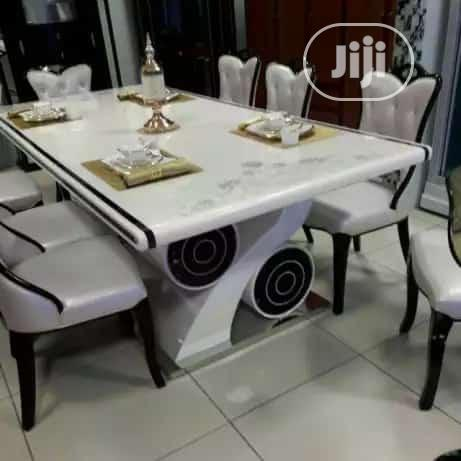 Quality Marble Dining Table With 8 Chairs